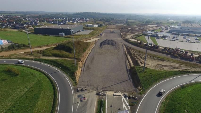 s52: nowe zdjęcia lotnicze z budowy północnej obwodnicy...
