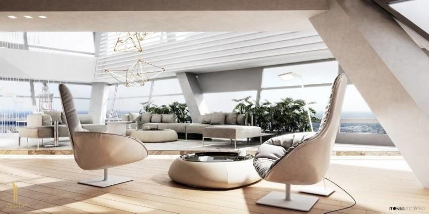 """Wieżowiec Złota 44 zwany """"Żaglem Libeskinda"""" składa się z luksusowych apartamentów. Właśnie sprzedano najdroższy z nich, trzypiętrowy penthouse na szczycie budynku. Cena nie została ujawniona. Pewne jest, że to """"najwyższa transakcja w historii rynku nieruchomości"""" w Polsce. WIĘCEJ NA KOLEJNYCH STRONACH>>>"""
