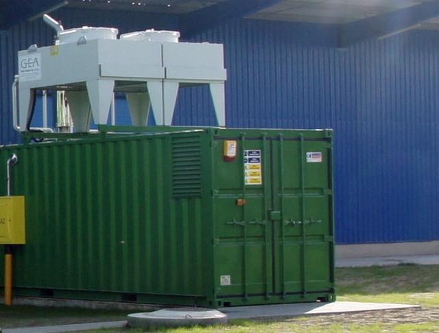 Agregat przetwarzający biogaz z odpadów na energię elektryczną