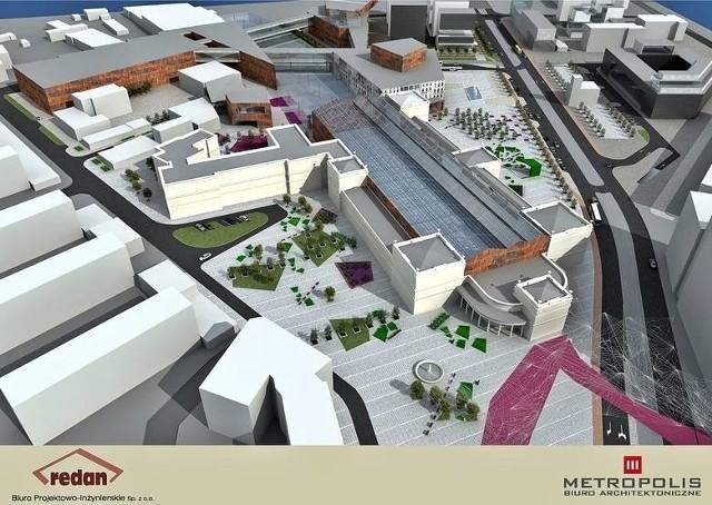 Tak, według jednego z projektów, mogły się zmienić okolice Dworca Świebodzkiego. Teraz PKP szukają jednak nowego pomysłu.