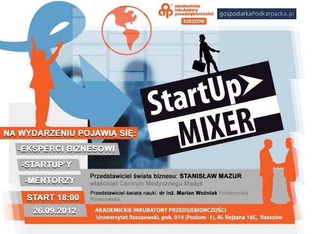 Rzeszów: Przepis na biznes dla młodych przedsiębiorcówStartUp Mixer już we środę