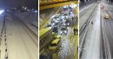 Intensywne opady śniegu na Pomorzu 5/6.01.2021. Trudne warunki na drogach, zablokowane trasy