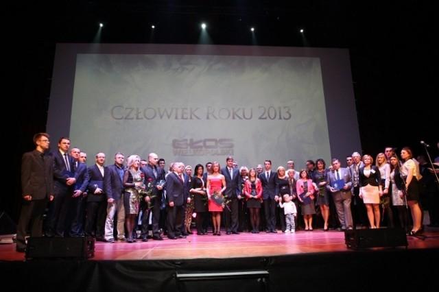 Uroczysta gala wręczenia nagród w plebiscycie Człowiek Roku 2013.