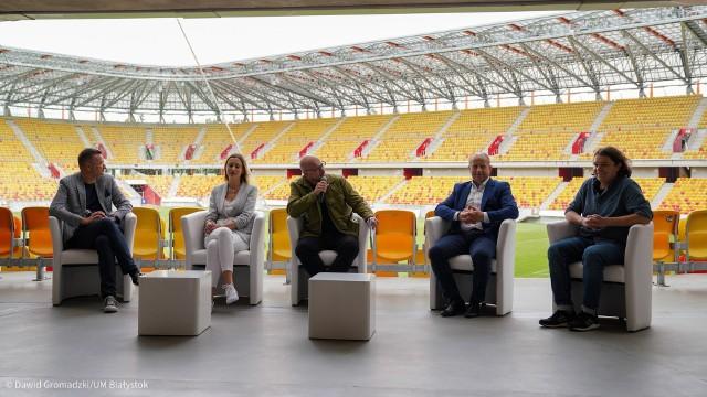 We czwartek (19.08) na stadionie miejskim odbyła się konferencja zapowiadająca tegoroczny Up To Date Festival.