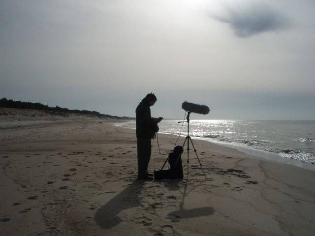 Marcin Dymiter w czasie nagrań