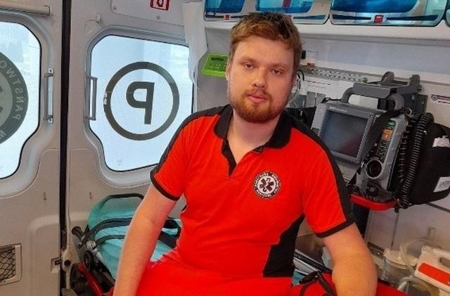 Piotr Balcer z Wrocławia jest ratownikiem od pięciu lat