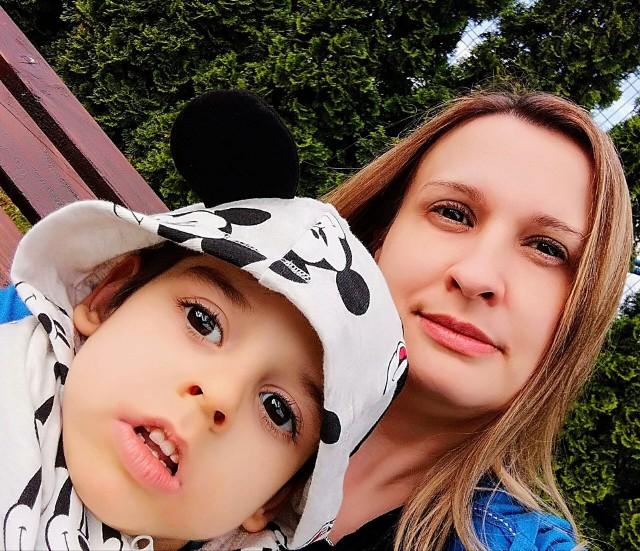 Renata Paruch z synkiem Michałkiem