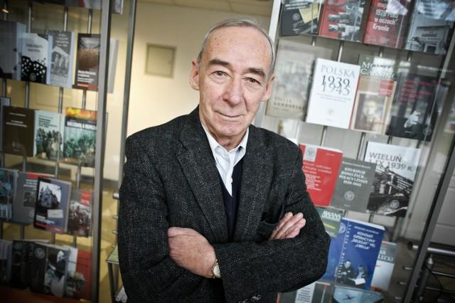 Prof. Andrzej Paczkowski w piątek odwiedził Łódź