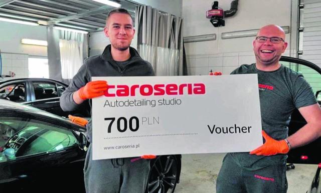 Do wygrania są m.in. vouchery na usługi autodetailingu od firmy Caroseria.