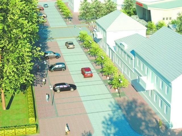 Wizualizacja parkingu na placu Kościuszki w Sokółce
