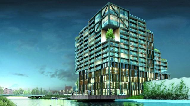 Marina Riverside będzie najwyższym budynkiem w BydgoszczyApartamentowiec Marina Riverside będzie najwyższym budynkiem w Bydgoszczy.