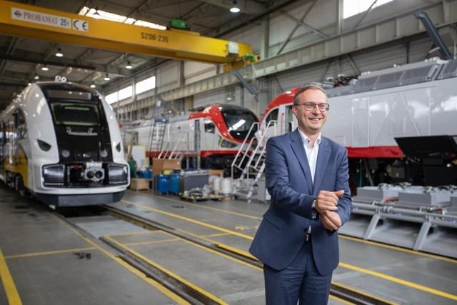 Paweł Borys w Pesie: - Pesa w ostatnich latach sporo inwestowała w obszarze nowych technologii, zaprezentowała nową gamę pojazdów, no i w tym roku zaprezentuje pierwszą, polską lokomotywę wodorową.