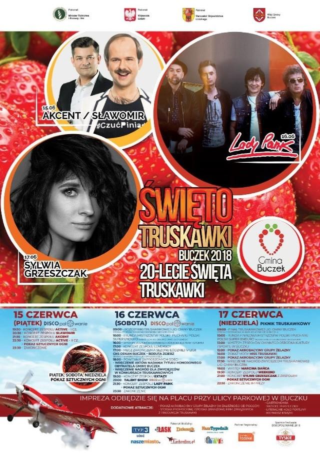 Święto Truskawki w Buczku 2018. Koncert Sławomira, Zenka, Lady Pank i wybory miss