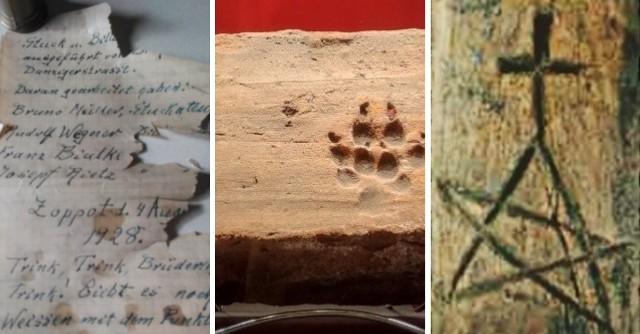 Pentagram z krzyżem, listy sprzed lat, tajemne znaki – zapiski dawnych mieszkańców docierają do współczesności. ZOBACZ GALERIĘ i poznaj pomorskie ślady sprzed wieków >>>