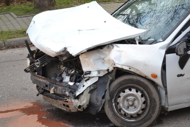 Zderzenie trzech aut w Starogardzie Gdańskim