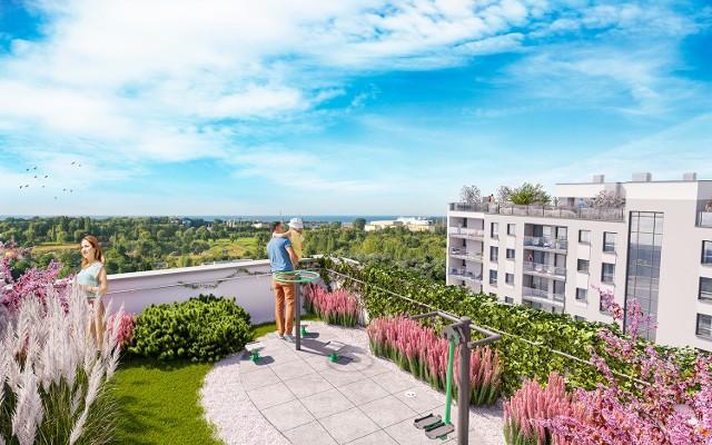 Atrakcją  dla przyszłych mieszkańców Horizonu będą zielone  dachy: na każdym z nich są zaprojektowane jako przestrzeń rekreacyjna dla mieszkańców.