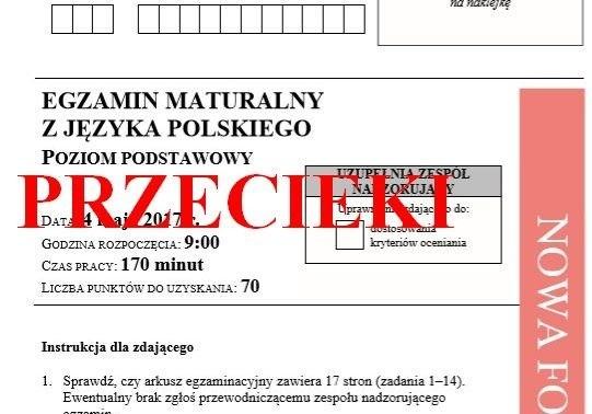 Matura 2018: Język Polski 4.05.2018 Co wiadomo? Przecieki, arkusze CKE, odpowiedzi [Twitter, Facebook]