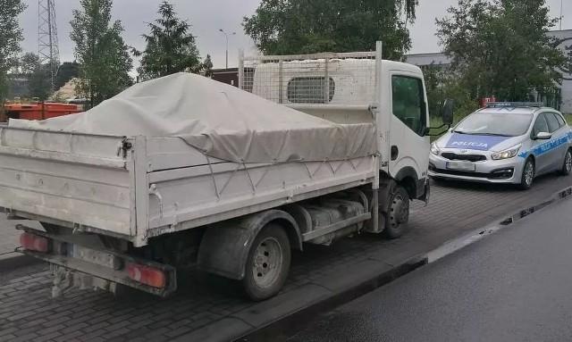 Kierował ciężarówką pod wpływem amfetaminy. Narkotyki chował w skarpecie. 36-latkowi z Gdańska grozi więzienie