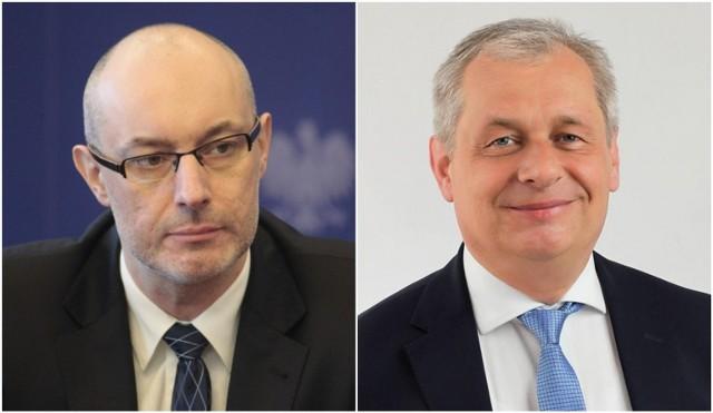 Adrian Czubak (z lewej) zrezygnował ze stanowiska. Zastąpi go Sławomir Kłosowski.