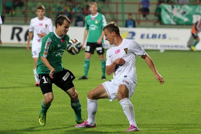 Maksymilian Rogalski rozegrał w Bełchatowie bardzo dobry mecz.