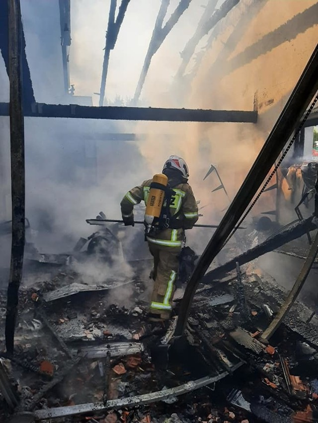 Pożar domu we Wrząsowicach w gminie Świątniki Górne
