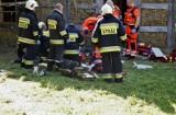 Wypadek w Czystej. Obaj mężczyźni przebywają w słupskim szpitalu, PIP ustala okoliczności zdarzenia