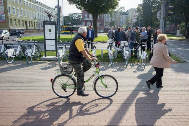 W 2017 roku testowano rowery miejskie w Słupsku.