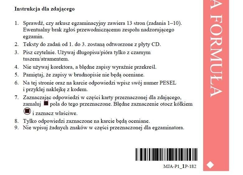 Matura 2018 język angielski poziom podstawowy- arkusze CKE,...