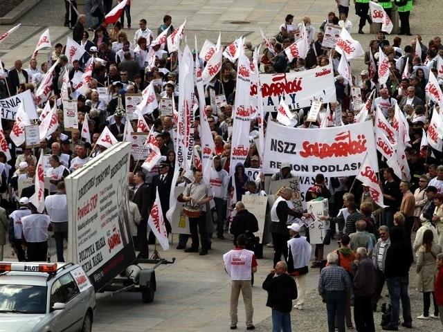 Demonstracja Solidarności na Rynku Kościuszki
