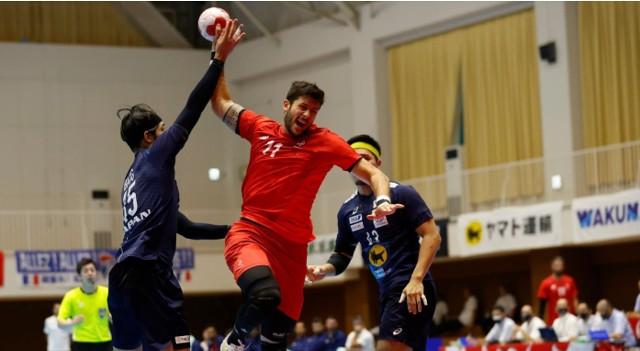 Nicolas Tournat podczas meczu z Japonią.