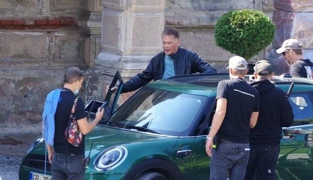 David Hasselhoff na planie filmowym w Bożkowie na Dolnym Śląsku