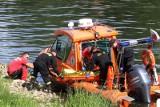 Patrol policji znalazł ciało dryfujące w Brdzie w centrum Bydgoszczy. To poszukiwany Białorusin