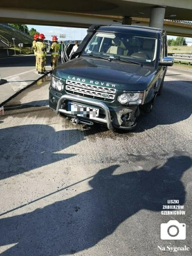 Wypadek na drodze krajowej S52