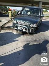 Rząska. Wypadek na autostradowym odcinku obwodnicy Krakowa. Zderzenie dwóch pojazdów i ranna osoba