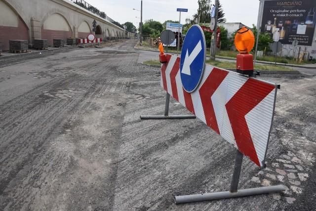 Przebudowa ul. Spichrzowej ma potrwać do końca października.
