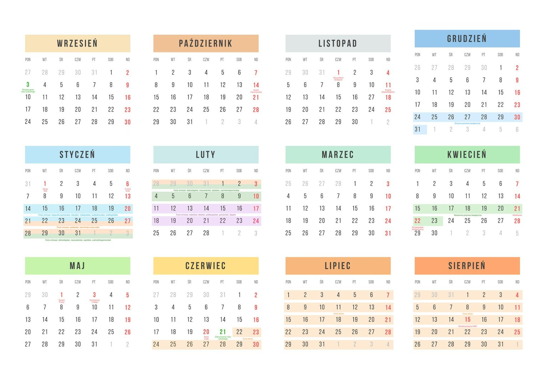 Kalendarz Roku Szkolnego 20182019 Online Do Pobrania I Wydrukowania