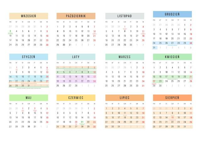 Kalendarz Roku Szkolnego 2018 2019 Online Do Pobrania I