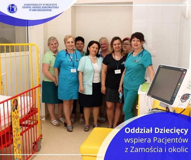 Personel oddziału dziecięcego w hrubieszowskim szpitalu