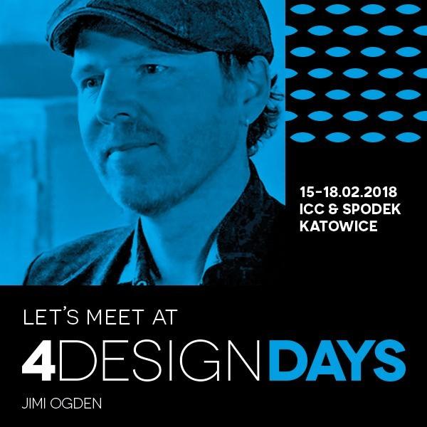 """Jimi Ogden, mieszkający w Polsce artysta-plastyk, znany z programu stacji HGTV """"Rzeczy OdNowa"""", w którym daje drugie życie starym przedmiotom, będzie jedną z gwiazd 4 Design Days w MCK i Spodku. Impreza odbędzie się od 15 do 18.02 2018 r."""