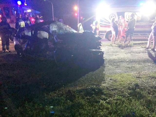 Do bardzo poważnie wyglądającego wypadku doszło w Brudzowicach w nocy z poniedziałku na wtorek