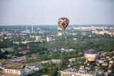 Szczęśliwcy mogli w weekend polatać balonem nad miastem