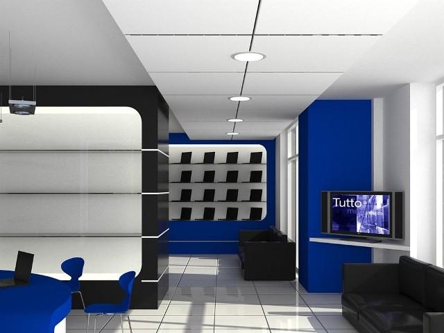 Tak będzie wyglądać wnętrze nowego salonu ze sprzętem komputerowym Kwark Komputer.