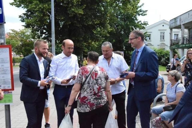 Borys Budka, przewodniczący Platformy Obywatelskiej, w czwartek, 25 czerwca spotkał się z mieszkańcami Pruszcza Gdańskiego