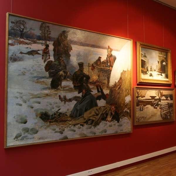Na parterze nowego budynku muzeum mieści się galeria malarstwa polskiego XIX i XX wieku.