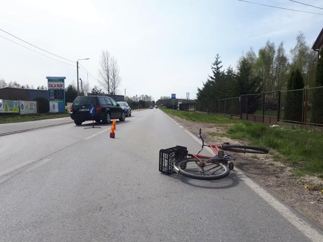 Do wypadku z udziałem rowerzystki doszło w Rusinowie.