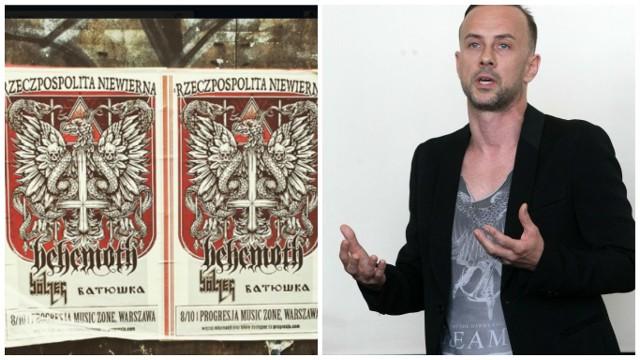 Mieszkańca oburzył plakat, którym Nergal i jego zespół Behemoth promują trasę koncertową