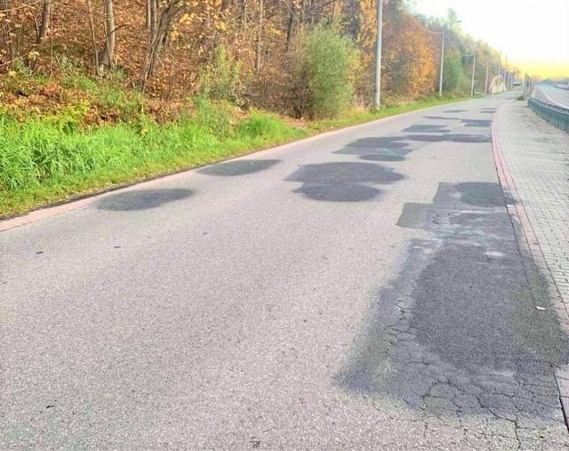Tak wygląda odcinek ulica Daszyńskiego w Myślenicach, który ma zostać wyremontowany z pomocą Funduszu Dróg Samorządowych