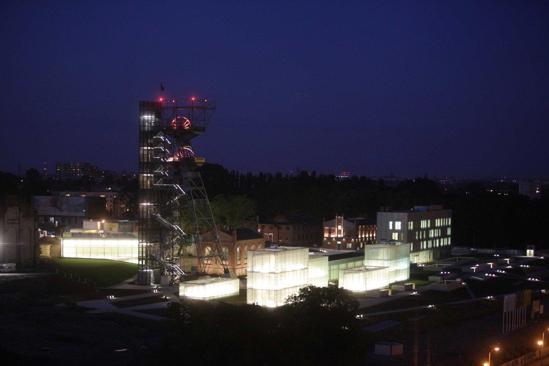 Muzeum śląskie Tak Wygląda Nowe Oświetlenie Zdjęcia