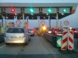 Gigantycznek korki na A4 przed bramkami w Gliwicach