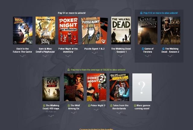 Humble BundleWszystkie gry w nowym zestawie Humble Bundle to produkcje studia Telltale Games